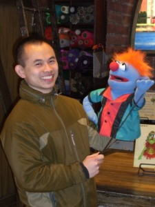 JJ with puppet
